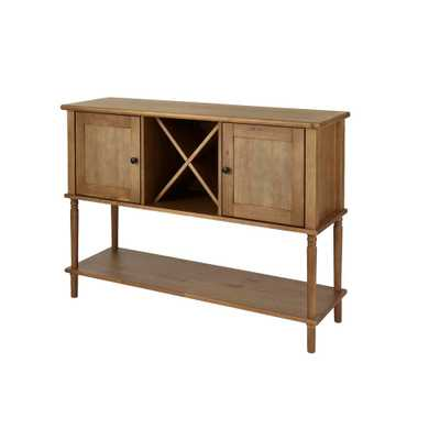 StyleWell Patina Oak Finish Wood Buffet Table with Storage (52.26 in. W x 35.10 in. H) - Home Depot