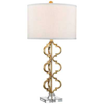 Dimond Castile Gold Leaf Stacked Curve Metal Table Lamp - Style # 9W342 - Lamps Plus
