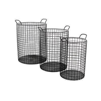 Emington Tall Cylinder Wire Storage Bins - Wayfair