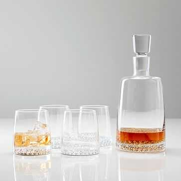 Metallic Base Decanter + Glassware Set - West Elm
