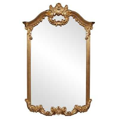 ArchCrowned top Bright Gold Wall Mirror - Wayfair