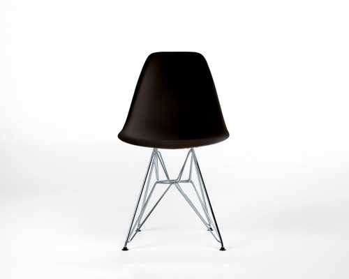 Dsr Molded Plastic Side Chair - Black Eiffel Wire - Rove Concepts