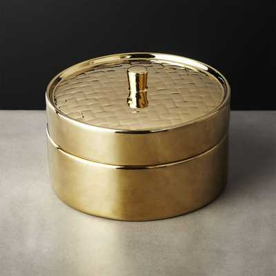 Gold Steamer Basket - CB2