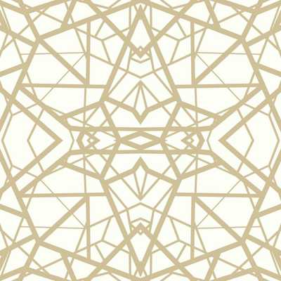 28.18 sq. ft. Shatter Geometric White/Gold Peel and Stick Wallpaper - Home Depot