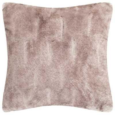 Faux Chinchilla Plush Fur Pillow, Grey - Home Depot