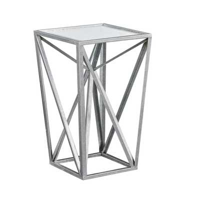 Jaye Silver Angular Mirror Accent Table - Silver/Mirror - Target