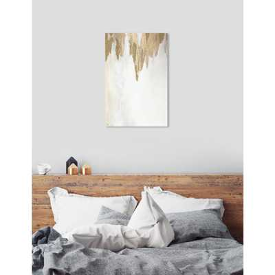 Very Golden by Oliver Gal Canvas Wall Art, White;Gold - Home Depot