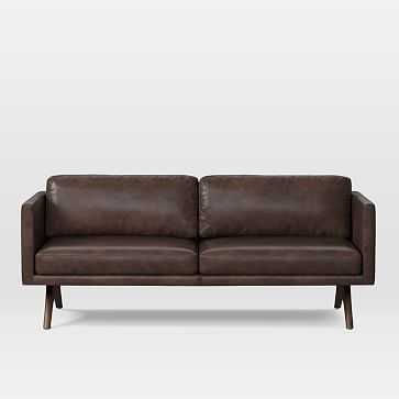 Brooklyn 2.5 Seater Sofa, Charme Leather, Mocha - West Elm