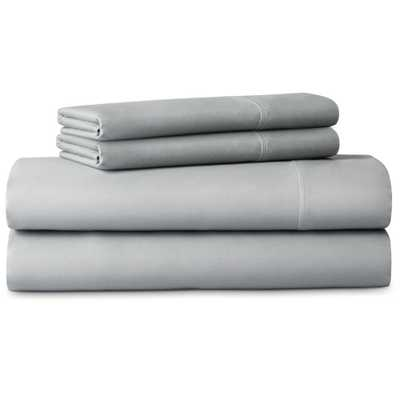 4-Piece Brushed Microfiber Gray Queen Size Sheet Set - Home Depot