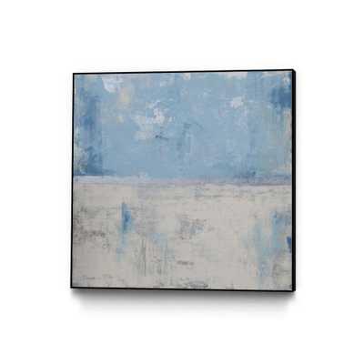 "CLICART 30 in. x 30 in. ""Silver Aura"" by Erin Ashley Framed Wall Art, Blue - Home Depot"