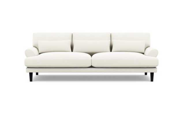 Maxwell Sofa with Ivory Fabric and Painted Black legs - Interior Define