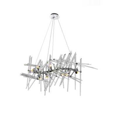 CWI Lighting Icicle 10-Light Chrome Chandelier - Home Depot
