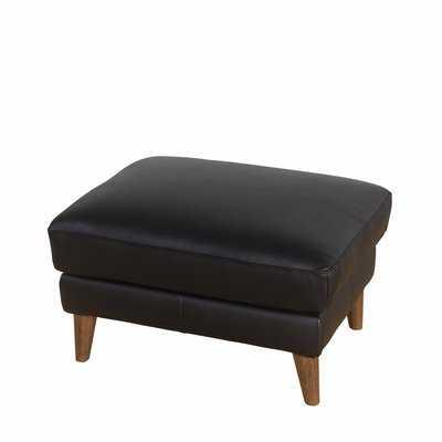 Annalise Wright Leather Ottoman - Wayfair