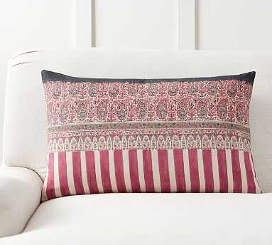 "Pomona Kalamkari Lumbar Pillow Cover, 16 x 26"", Multi - Pottery Barn"