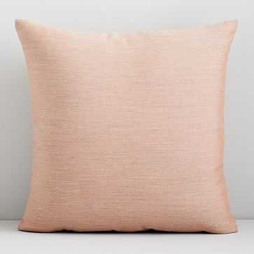 "Sunbrella Solid Indoor/Outdoor Cast Pillow, Petal, 18""x18"" - West Elm"