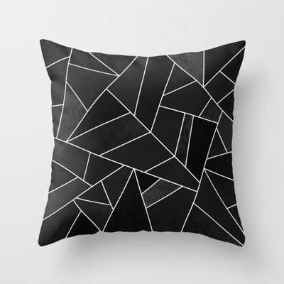 """Black Stone Throw Pillow - Outdoor Cover (18"""" x 18"""") with pillow insert by Elisabethfredriksson - Society6"""