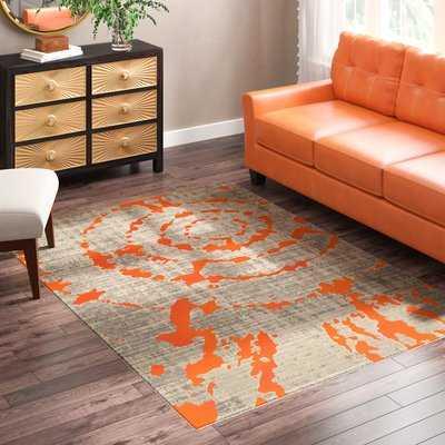 Deasia Light Gray/Orange Area Rug - AllModern