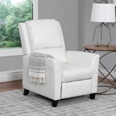 Atlin Designs Bonded Leather Recliner in White - eBay