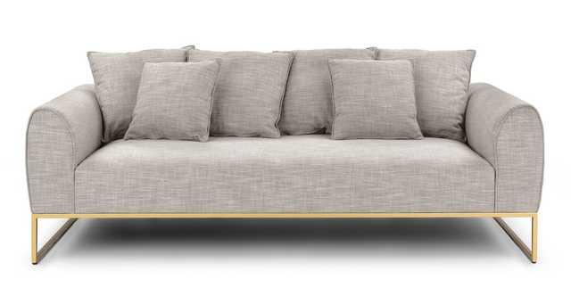 Kits Rain Cloud Gray Sofa - Article
