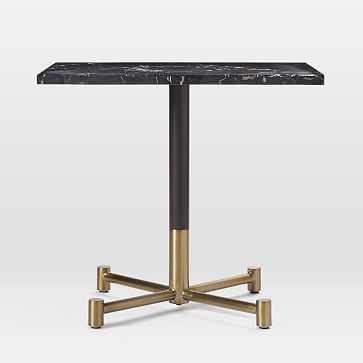 Branch Base Rectangular Dining Table, Black Marble, Antique Bronze/Blackened Brass - West Elm
