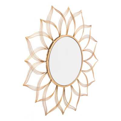 Flower Gold Wall Mirror - Home Depot