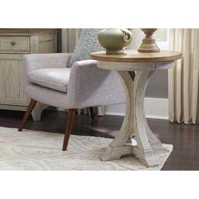 Kreutzer Round Chair End Table - Wayfair