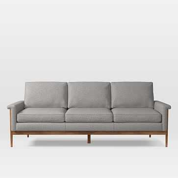 Leon 3 Seater Sofa, Deco Weave, Feather Gray - West Elm