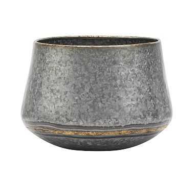 Low Galvanized Vases - Medium - Pottery Barn