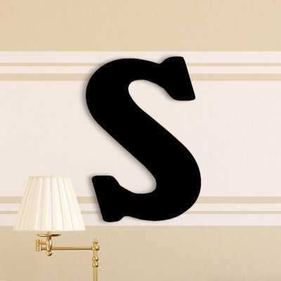Damaris Oversized Painted Letter Hanging Initial - Wayfair