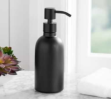 Matte Black Ceramic Soap/Lotion Pump - Pottery Barn