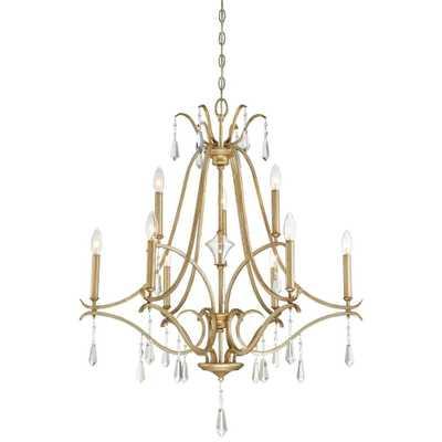Minka Lavery Laurel Estate 9-Light Brio Gold Chandelier - Home Depot
