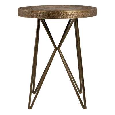 Gold Metal Clad Mandala Accent Table by World Market - World Market/Cost Plus