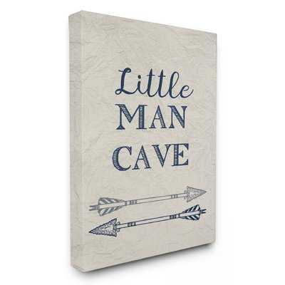 Little Man Cave Arrows Illustration' Framed Textual Art - Wayfair