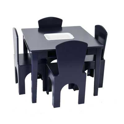 Kids Table Set with Center Cubby - Reservation Seating, Blue - Target