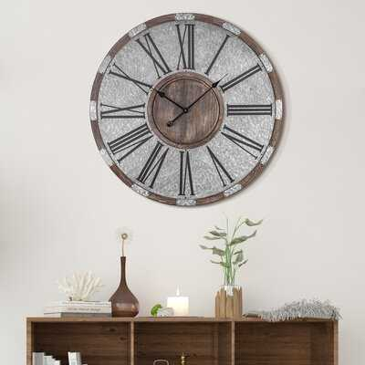 "Oversized Mendosa 31"" Wall Clock - Wayfair"