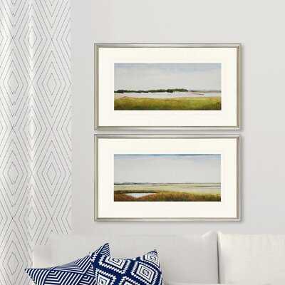 'Marshlands II' 2 Piece Picture Frame Print Set - Birch Lane