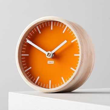 Tait Desktop Clock, Tangerine - West Elm