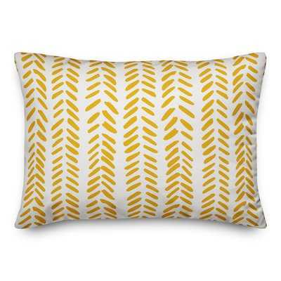 Estevao Modern Herringbone Lumbar Pillow - Wayfair