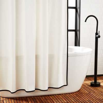 Capri Border Shower Curtain - CB2