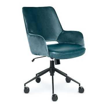 Two-Toned Upholstered Tilt Office Chair - West Elm