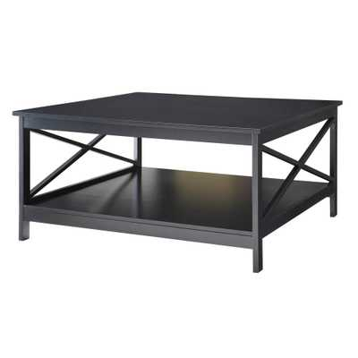 Oxford 36 in. Square Black Coffee Table - Home Depot
