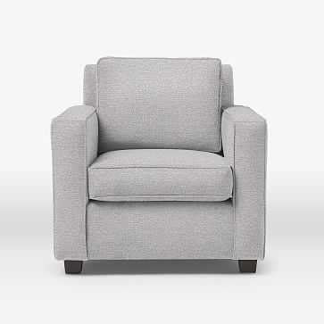 Henry Armchair, Chenille Tweed, Frost Gray - West Elm