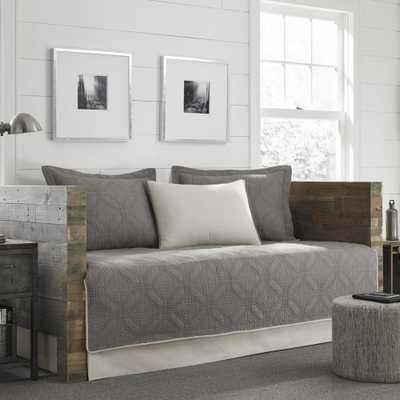 Axis 5-Piece Grey Twin Reversible Daybed Bedding Set - Home Depot