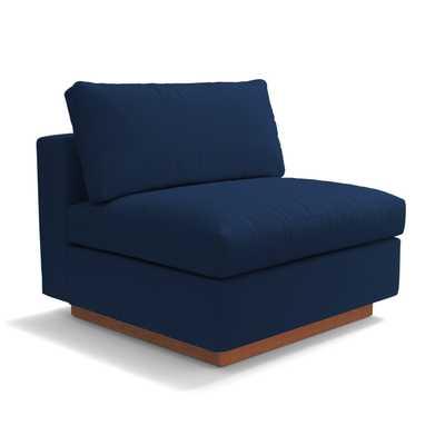 Taylor Plush Armless Seat - Cobalt Velvet - Apt2B