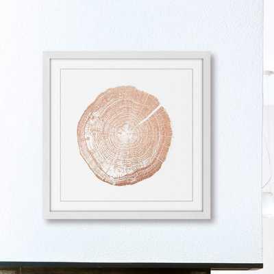 'Log Cutout Rose Gold' Framed Painting Print - Wayfair