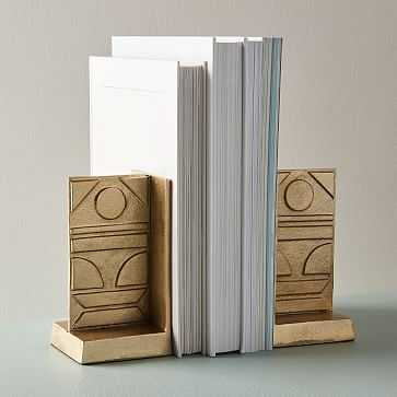 Pictograph Bookends, Set of 2 - West Elm