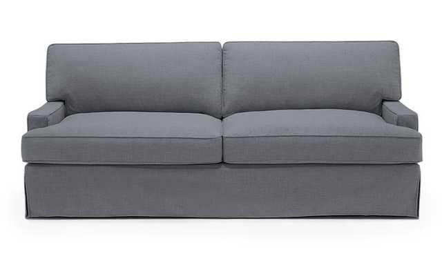 Gray Presley Mid Century Modern Slipcover Sofa - Impact Sultry  - Mocha - Joybird