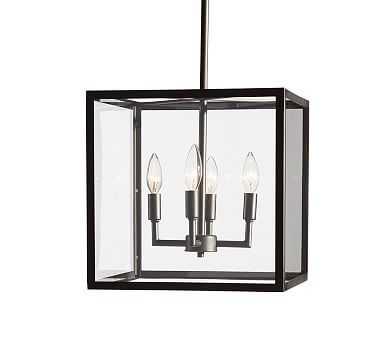 Manor Indoor/Outdoor Pendant, Bronze/Glass - Pottery Barn