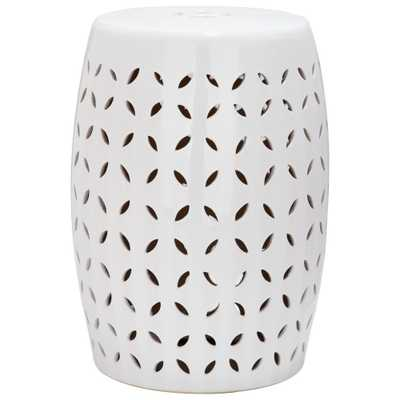Lattice Petal Garden Stool - White - Safavieh - Target