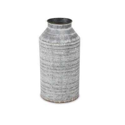White Washed Galvanized Metal Jug - Wayfair